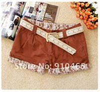 Женские шорты New arrivel Best Selling Women's Collorful Pencil shorts +Belt Hot Pant 1Pcs/Lot