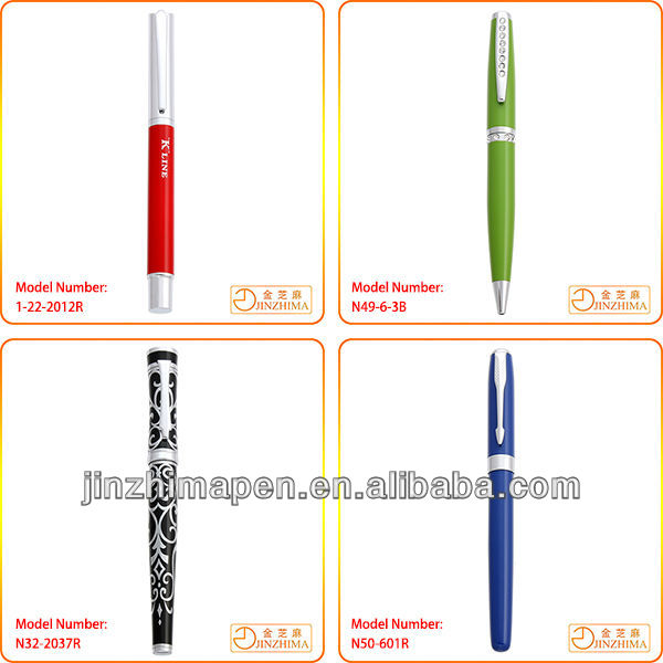 High quality logo imprint promotional gift deluxe metal pen