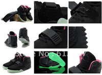 EMS 7day Delivery New Arrival Famous Trainers Air Yeezy 2 NRG Rerto Kanye West Men's Shoes Fashion shoes,black pink
