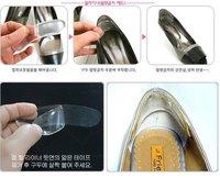 Вкладыши для обуви 100 pair / lot Invisible Heel pads, silicone transparent wear casual cushion pad heels, foot care pads
