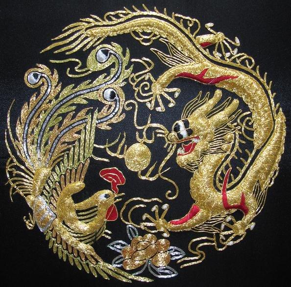 Вышивка золотом китайская
