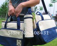5pcs/set free shipping wholesale multifunctional baby bag fashion mom bag baby product diaper nursing nappy changing bag set