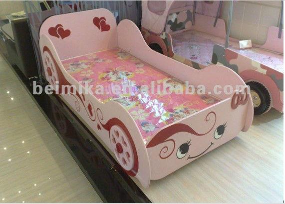 Princesse fille de voiture lit de luxe princesse lit - Lit voiture princesse ...
