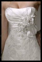 Свадебное платье Beautiful Strapless Chapel-Train Lace Wedding Dress MS-A006