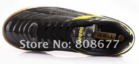 2012 New arrival Hot Selling  Durable Green Casual Indoor Futsal Soccer Shoes Free shipping