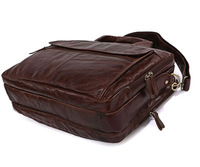 Товары на заказ Vintage Leather Men's Black Briefcase Laptop Bag Messenger Handbag #7146C