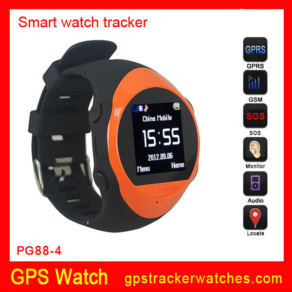 GPS tracker watch phone PG88 , Smart watch mobile phone. 8G TF card