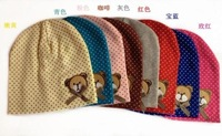 Шапка для мальчиков 059 Baby Children Boy Girl Cute Cartoon Bear Beanie Beret Cap Hat