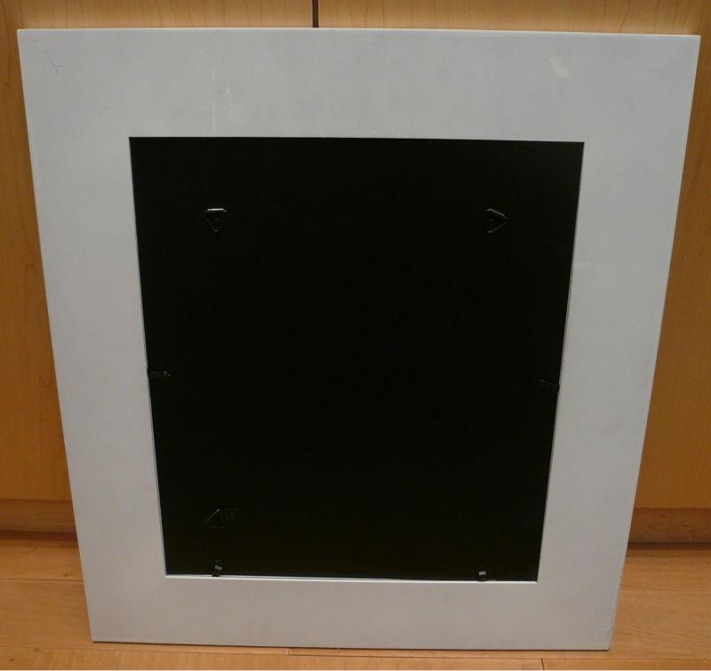 16 x 16 bois gesso blanc cadre photo, Cinq collage avec mat