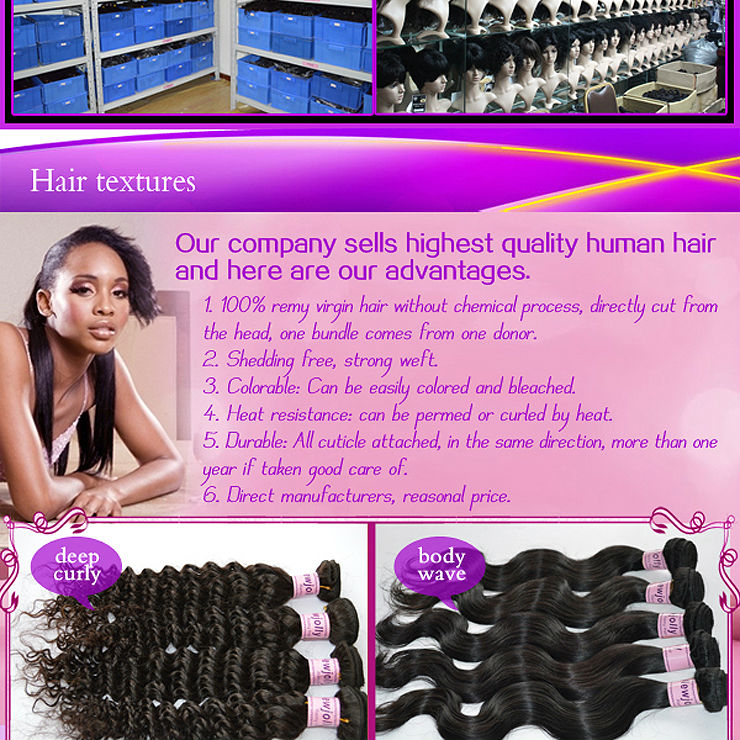 100% Virgin Malaysian hair by the bundles
