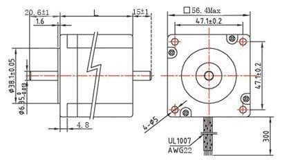 SM57HT76-2804A nema 23 bipolar stepper motor price, with Holding torque 18.9kg.cm