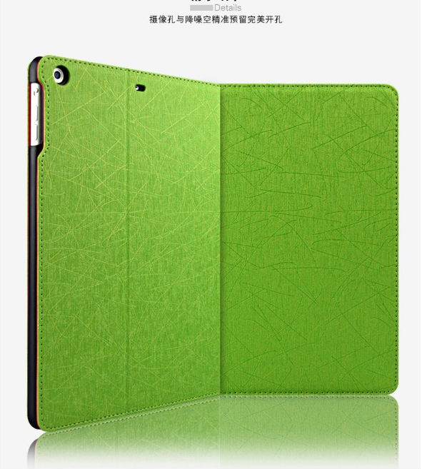 2014 new ultra thin colorful stand book leather case for ipad mini