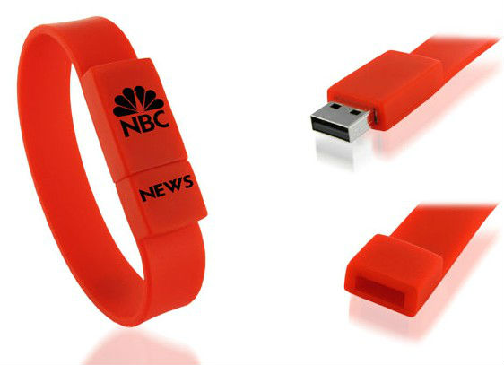 Promotional Unique Wrist Silicon USB Bracelet with Customize Logo