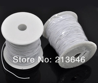 Wholesales 2Rolls(120M) White Elastic Cotton Covered Thread 1mm