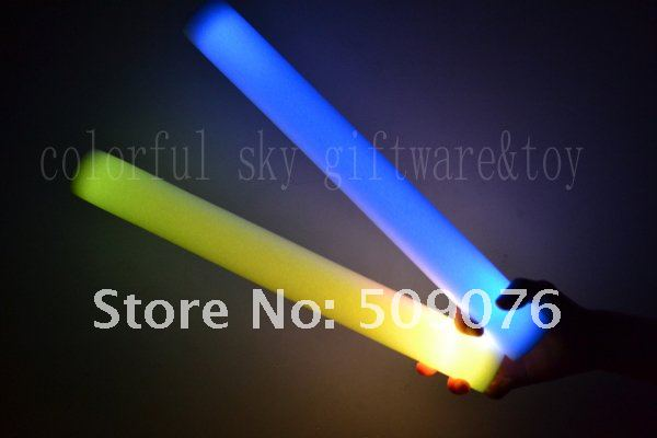 2012 NEW arrival custom-make logo 100PCS/lots 7mode 4*40cm led foam stick led stick for concert Free shipping