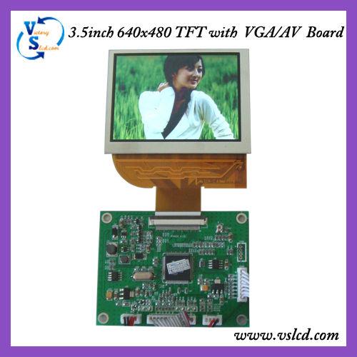 "3.5"" 640x480 tft with VGA /AV Board"
