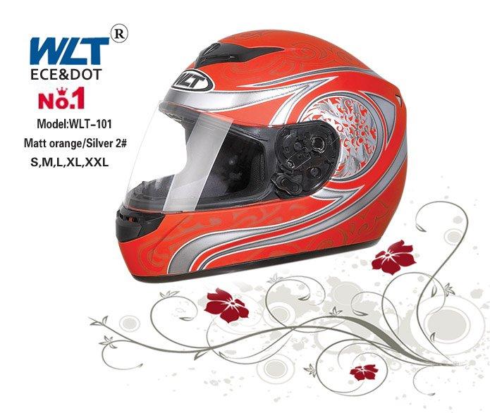 Blanc ECE casque intégral WLT-101 S