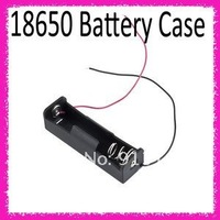 "Plastic Battery Storage Case Box Holder for 1 x 18650 Black with 6"" Wire Leads"