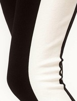 Женские брюки shoping Woman the stylish stitching black and white pencil pants.Tight trousers TB 2073