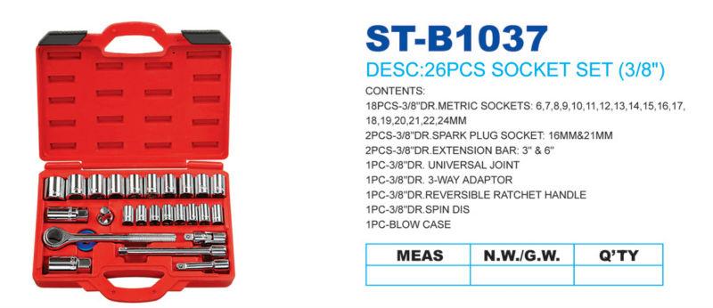 "2013 Hot Sale 1/2""Square Driver 11pcs US General Tool Box Parts Heavy Duty Double Component Handles"
