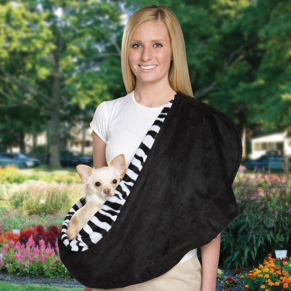 Reversible Sling Pet Carrier in Zebra