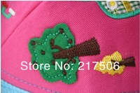 Головной убор для девочек 2013 Spring new Child hat baseball cap girls boys cap with lovely animals, Retail, 5 colors