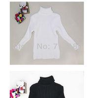 Sunlun Winter Boys Girls Clothing Black White Cotton Sweater Base Shirt Turtleneck Sweater Christmas Gift Free Shipping