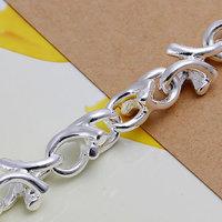Серебряный браслет H042! 925 silver bracelet, 925 silver fashion jewelry Leaf Bracelet