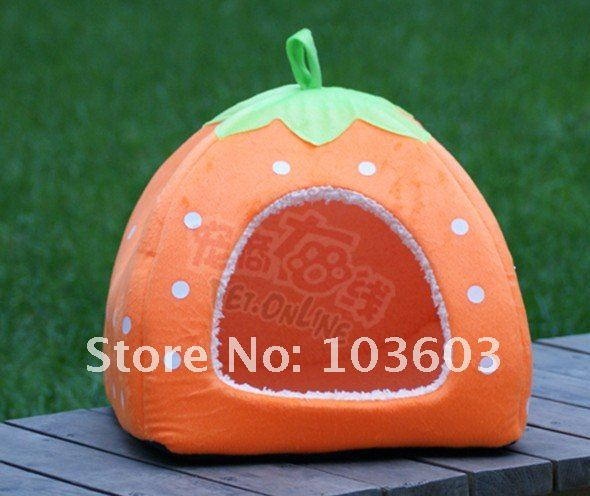 Latest thickening Cute strawberry Nest, multi function Yurts Dog House,Pet kennel,Cat Litter Free Shipping