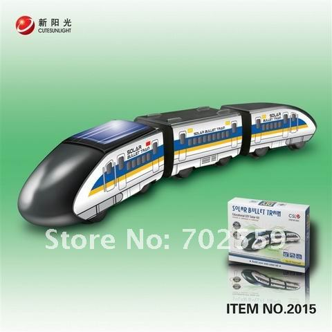 New! Solar Bullet Train Solar toys Educational DIY Solar Kit Free Shipping!!  202916