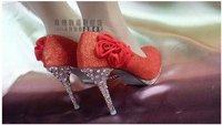 Туфли на высоком каблуке and Drop shipping Women Wedding high heel shoes Crystal diamond platform pumps shoes, party shoes