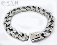 Браслет из нержавеющей стали Classic Heavy Men's Mens Bracelets Stainless Steel Silver New Fashion Jewellry Jewelry