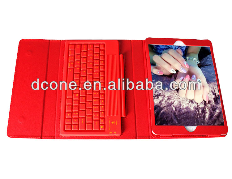 Wireless Bluetooth 3.0 Keyboard + PU Leather Case Protective Cover with Stand for Apple iPad 5 Air