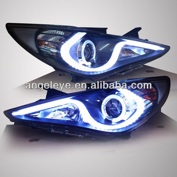 현대 소나타의 yf 소나타 i45 천사 눈이 주도했다 헤드 램프 2009년 ...