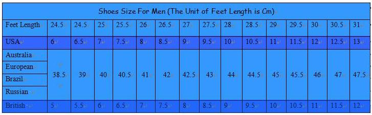 women shoe size chart brazilian: Shoe size chart us to brazil bto sports boot sizing charts