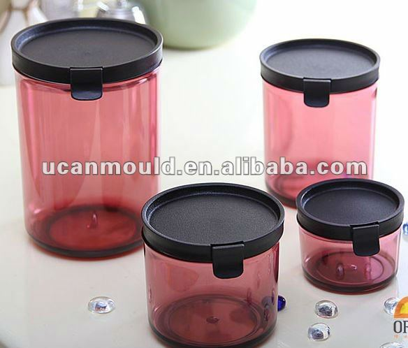 Plastic round food sealed container mould