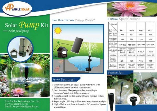 Solar panel power water pump price