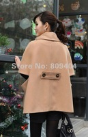 Sunlun Free Shipping Ladies' Double-Breasted Cloak/Women's Loose Coat