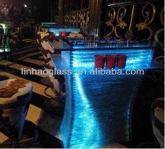 led cocktail table, 1100mm high bar table, nail bar table, glass tea table