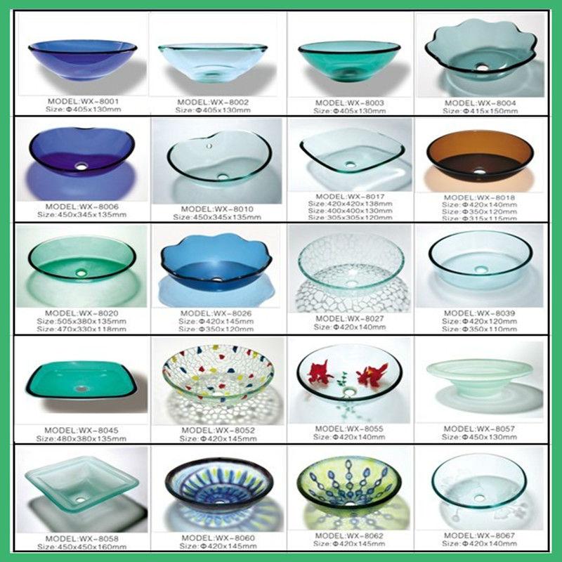Hangzhou Pia Do Banheiro de Vidro redonda TransparentePias para banheiroID  -> Pia Para Banheiro De Vidro Comercial Ramos