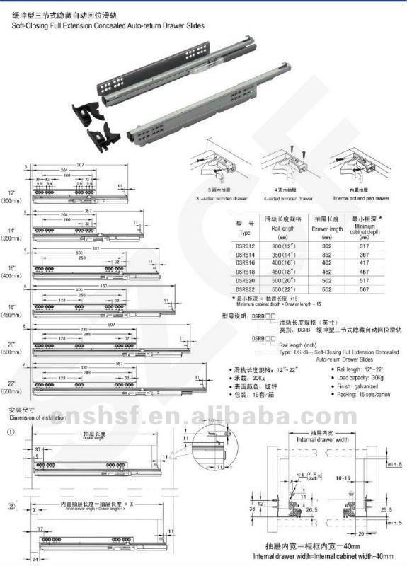 Szcf Kitchen Cabinet Drawer Slide Parts Dsrb Buy Kitchen Cabinet