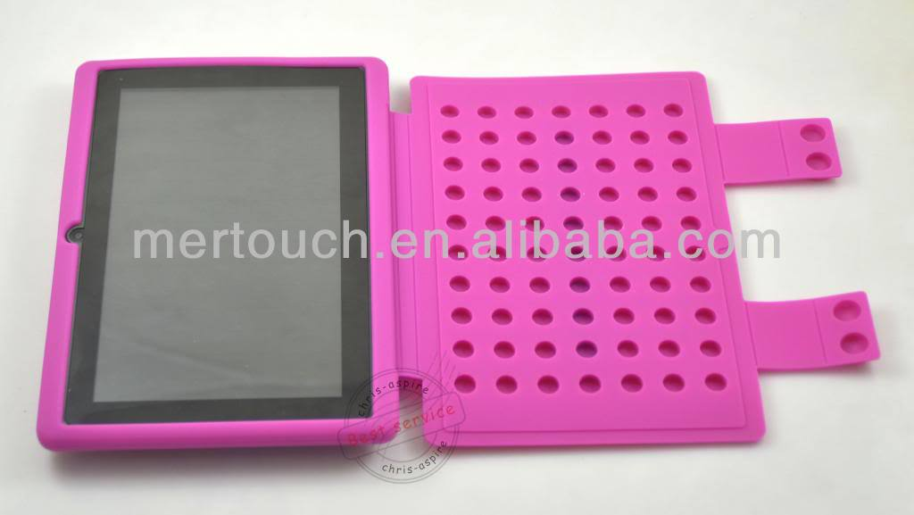 New Soft Silicone Silicon Leather Back Cover Case For China Andirodx Allwinner Tablet PC A13 Case