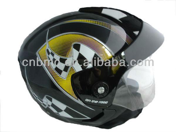 Design double visor open face helmets