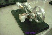 новых воздушных электроэнергии/мощности двигателя Стирлинга генератор смешная игрушка с 4 светодиодов/черный