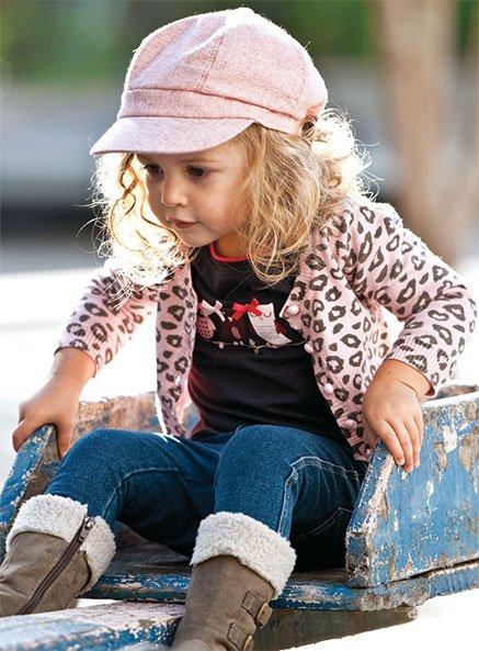 Baby boy terno/damas de rosa cardigan+ blusa preta/crianças de ...