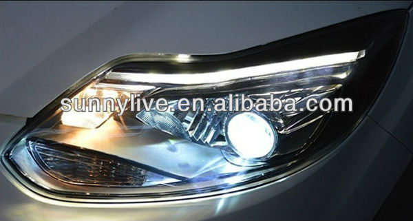 2012-2014 year Focus 3 LED Head Lamps with Bi xenon projector lens V2 type YD