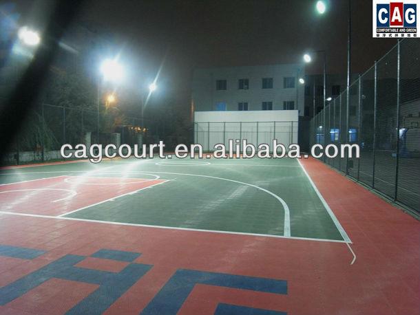 Outdoor Interlocking PP Basketball Flooring Tile Competition/Training Grade