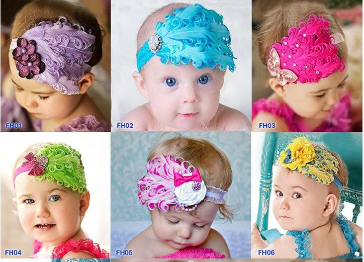 2013 caliente de la venta, bandas para la cabeza para bebés, bebé ...