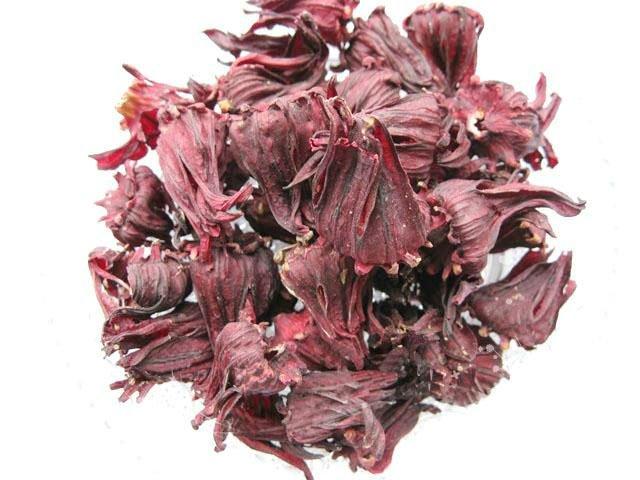 Séché hibiscus fleur poudre extrait