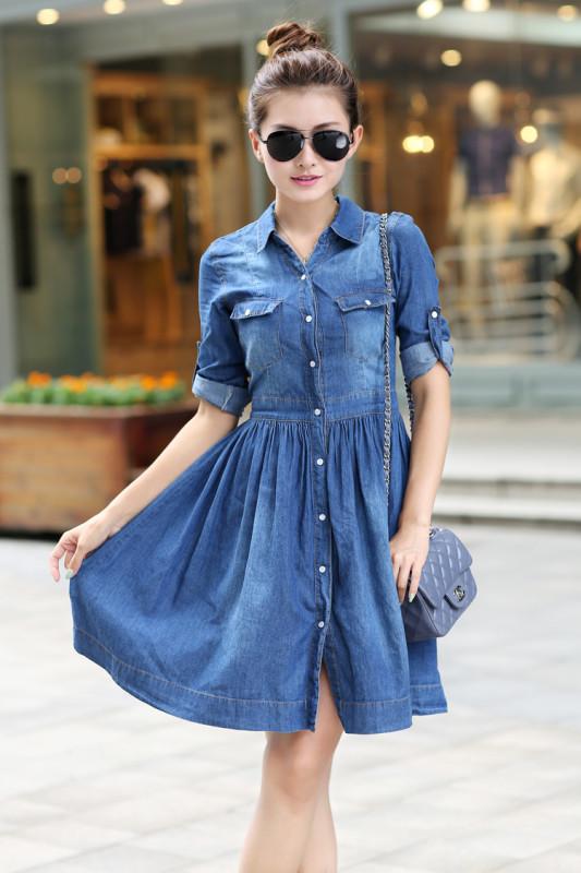 Джинсовые платья костюмы